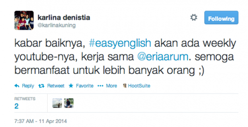 easyenglish @karlinakuning di youtube
